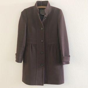 J Crew Double Cloth Italian Wool Pea Coat 2P